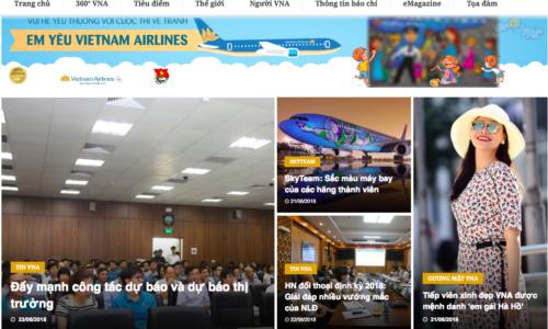 """Trang nội bộ Vietnam Airlines """"mở cửa"""" đón bạn đọc"""