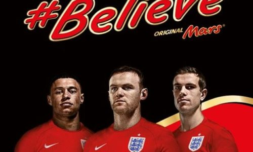 Brands and Euro (4): MARS CỔ VŨ TUYỂN ANH VỚI CHIẾN DỊCH #BELIEVE