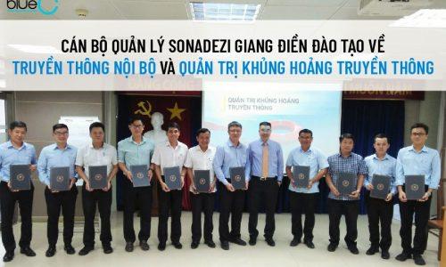 Cán bộ quản lý Sonadezi Giang Điền đào tạo về truyền thông nội bộ và quản trị khủng hoảng truyền thông